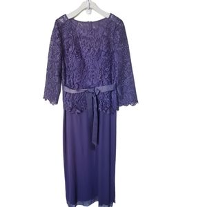 PATRA NWT Dress Lace Knit Violet Sleeves 3/4 Sleeve Formal Holiday Party Size 18